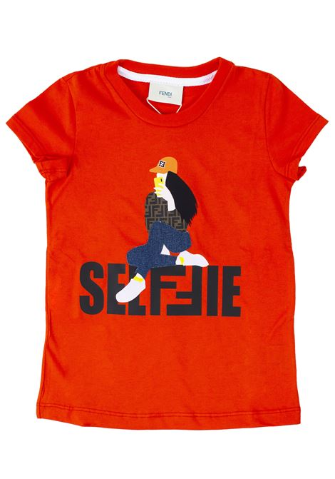 T-shirt girl FENDI KIDS | T-shirt | JFI1677AJF0BXA