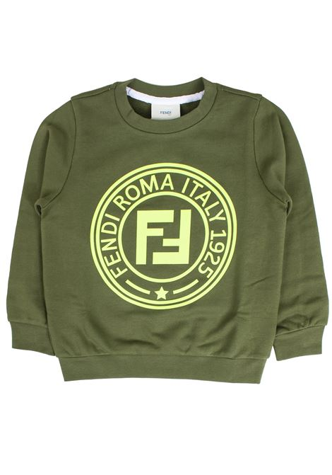 Sweatshirt with baby logo FENDI KIDS | Sweatshirts | JMH1005V0F0WHD