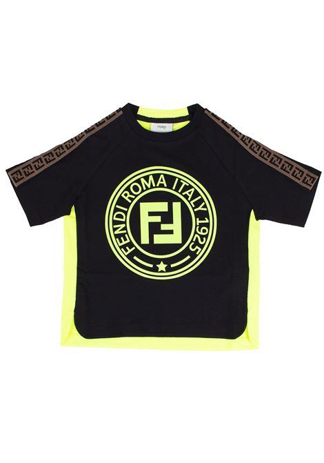 T-shirt logata bambino FENDI KIDS | T-shirt | JMI2757AJ*F0RX2