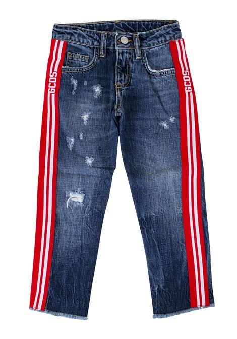 baby jeans with contrasting details GCDS KIDS | Trousers | 020459200