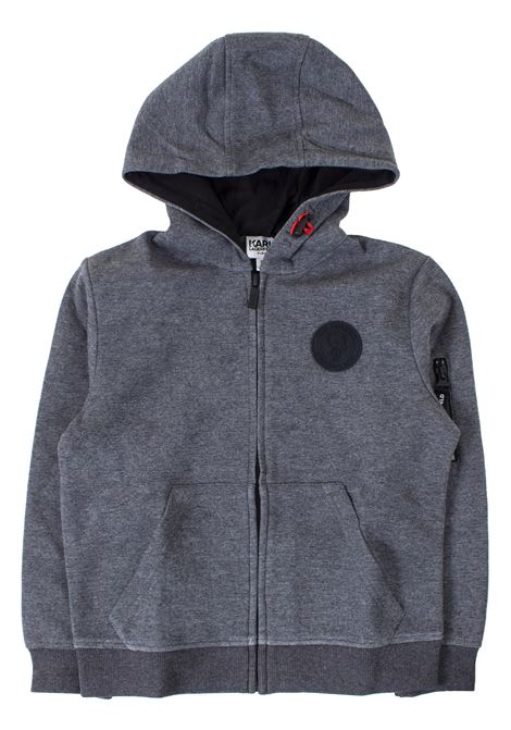 Kids sweatshirt with hood KARL LAGERFELD KIDS | Sweatshirts | Z25195A48