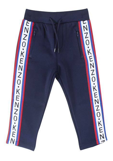 Pantalone bambino con bande logate KENZO KIDS | Pantaloni | KP22538T04