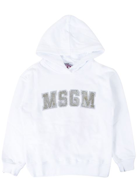 Girl sweatshirt with hood. MSGM KIDS | Sweatshirts | 020829T001