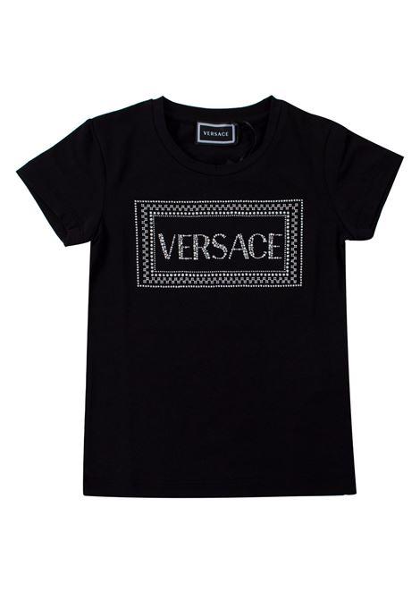 black shirt young versace YOUNG VERSACE | T-shirt | YC000140-YA00019YA008