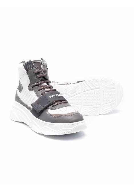 High sneakers with logo BALMAIN KIDS | 6P0C86 Y0019100GR