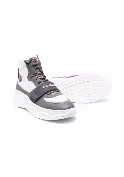 High sneakers with logo BALMAIN KIDS | 6P0C86 Y0019T100GR
