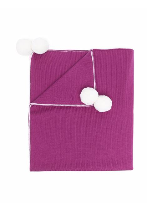 Blanket with pompom LITTLE BEAR | 313606