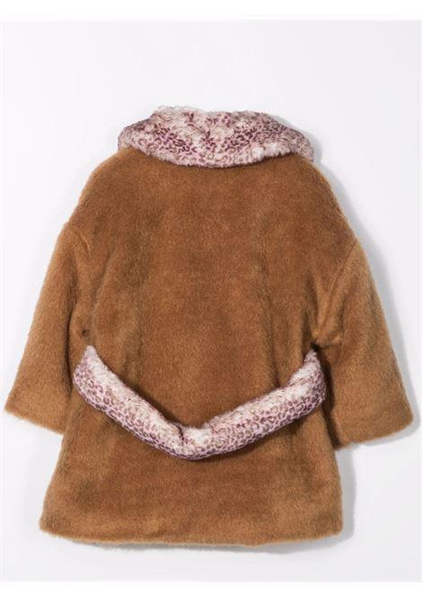 Cappotto con colletto a contrasto MISS BLUMARINE KIDS | MBL413402