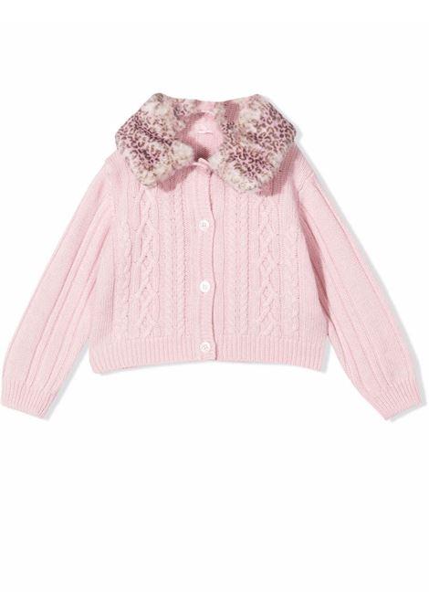 Cardigan with contrasting collar MISS BLUMARINE KIDS | MBL413903
