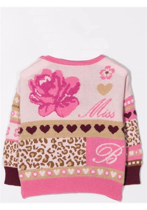 Sweater with embroidery MISS BLUMARINE KIDS | MBL420702
