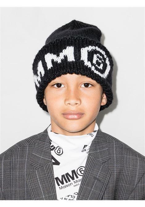 Cappello in lana con stampa MM6 KIDS MAISON MARGIELA | M60067 MM28M6900