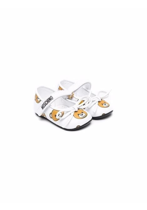 Ballet flats with hook and loop closure MOSCHINO KIDS | 687012