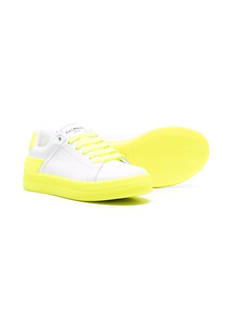 Sneakers with paneled design BALMAIN KIDS | 6P0576 Y0009T100GL
