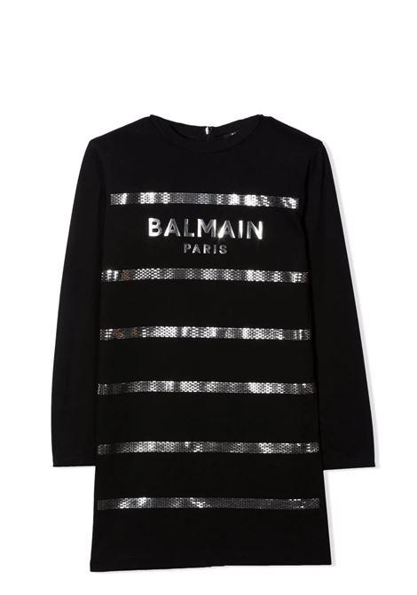 Dress with logo plaque BALMAIN KIDS | 6P1180 J0006930