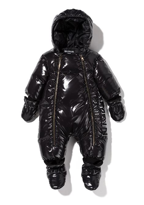 Shiny black eskimo BALMAIN KIDS | 6P2800 N0007930