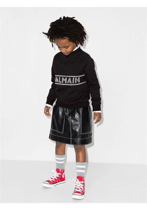 Sweatshirt with rhinestones BALMAIN KIDS | 6P4160 F0015T930