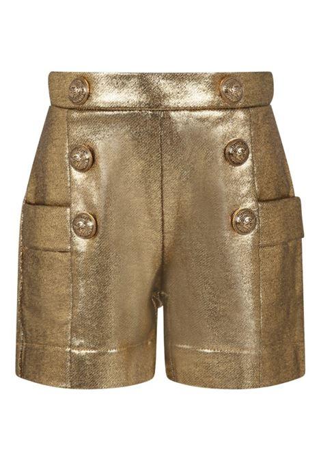 Golden shorts BALMAIN KIDS | 6P6179 B0007219