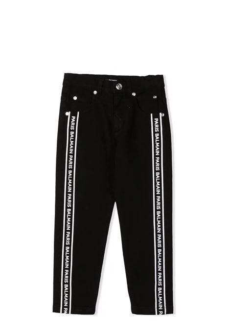 Trousers with print BALMAIN KIDS | 6P6730 D0003930