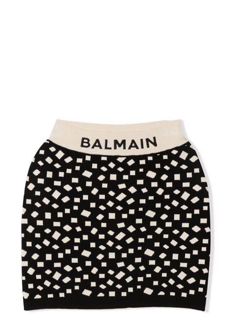 Skirt with inlay BALMAIN KIDS | 6P7010 X0001930BG