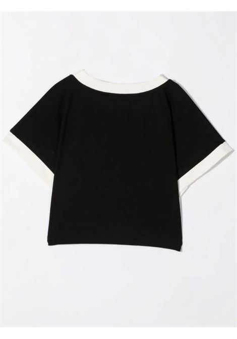 T-shirt with crop print BALMAIN KIDS | 6P8071 Z0003930BG