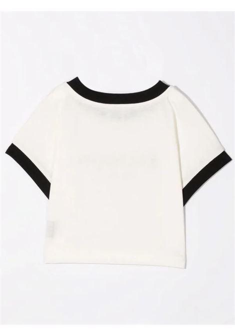 T-shirt with crop print BALMAIN KIDS | 6P8071 Z0003T112NE