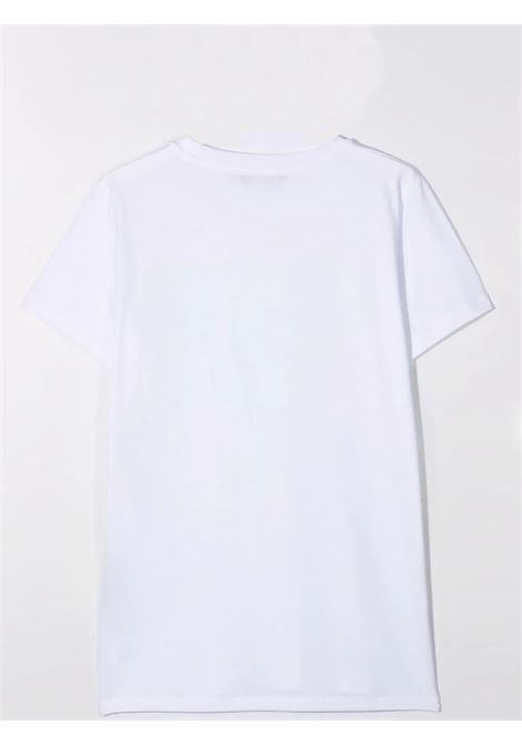 T-shirt bianca con stampa BALMAIN KIDS | 6P8541 Z0003T100GL