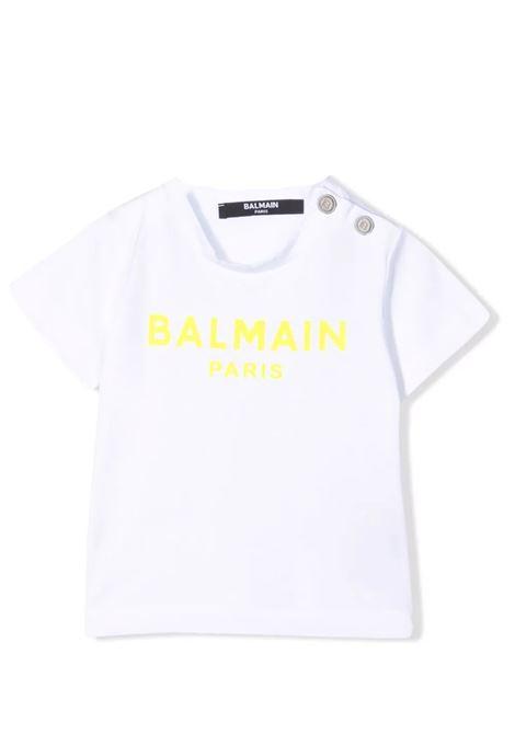 Baby T-shirt with print BALMAIN KIDS | 6P8A11 Z0003100GL