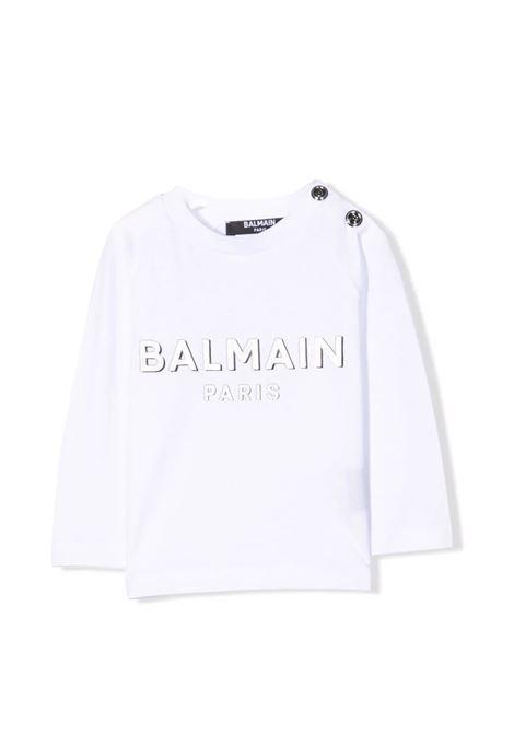T-shirt with logo BALMAIN KIDS | 6P8B20 Z0003100AG