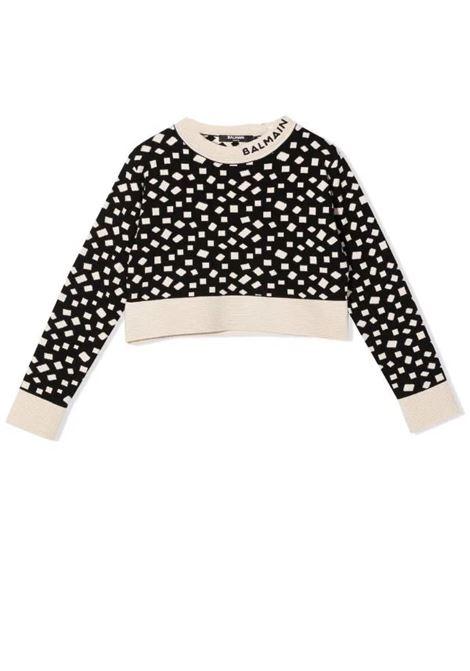 Sweatshirt with print BALMAIN KIDS | 6P9000 X0001T930BG