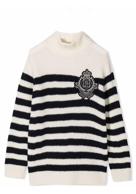 Striped sweater BALMAIN KIDS | Pull | 6P9520 W0016101BL