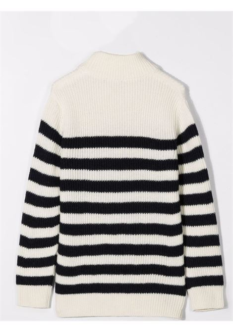 Striped sweater BALMAIN KIDS | 6P9520 W0016T101BL