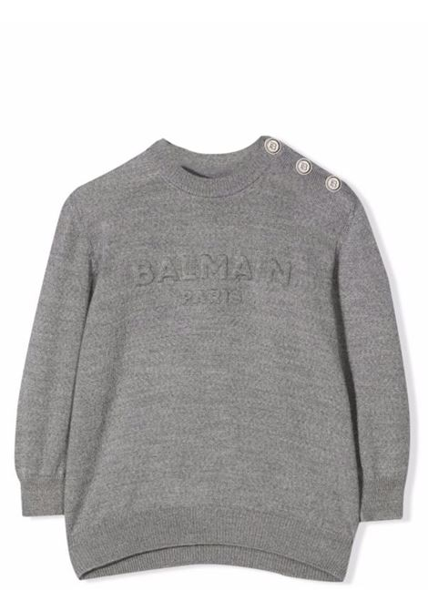 Sweater with embossed logo BALMAIN KIDS | 6P9A10 W0024911