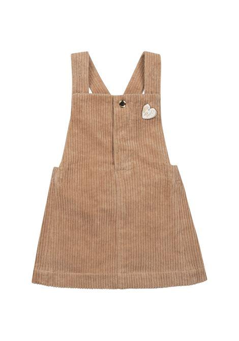 Ribbed dungaree dress CHLOE' KIDS | C02309231