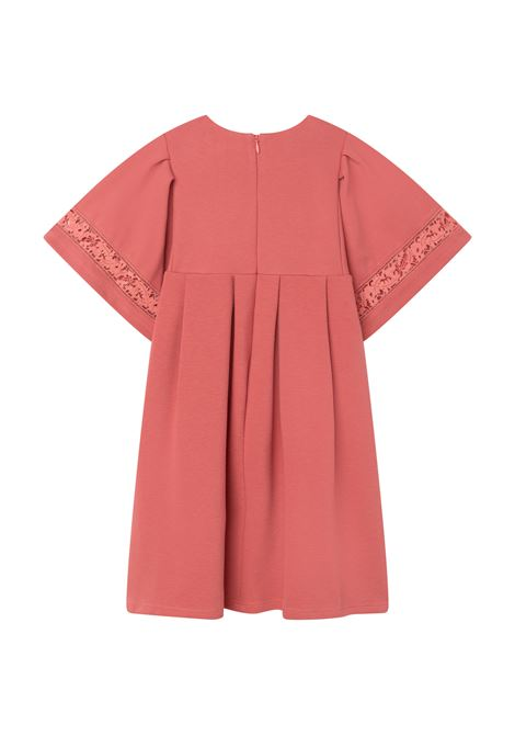 Dress with broderie anglaise lace CHLOE' KIDS | C1284344V