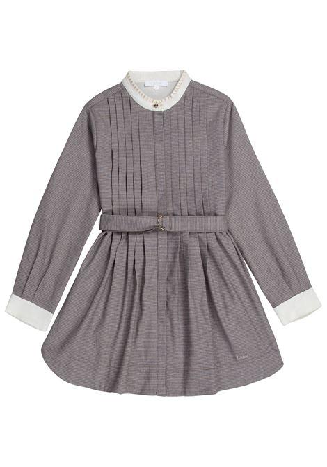 Pleated checked dress CHLOE' KIDS | C12852Z67