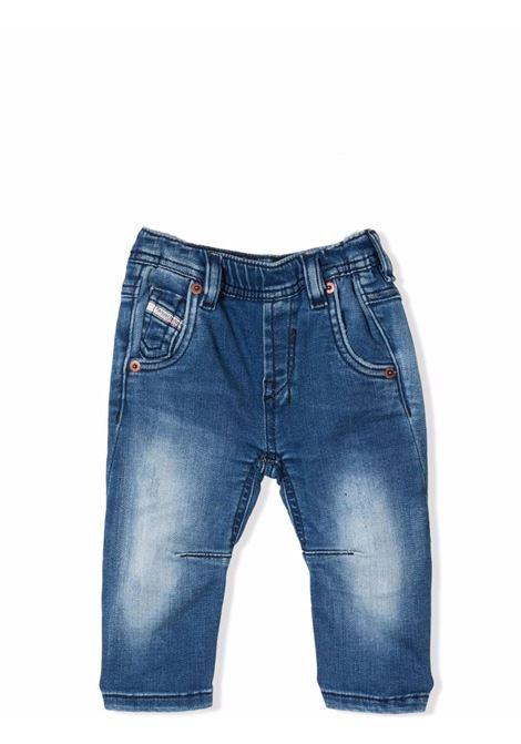 Straight jeans with lightened effec DIESEL KIDS | 00K1ZJ KXB9PK01