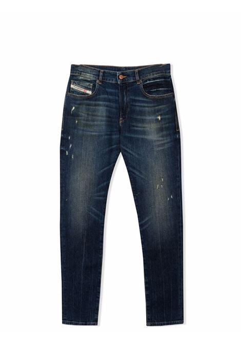 Straight jeans with a worn effect DIESEL KIDS | J00155 KXBANTK01