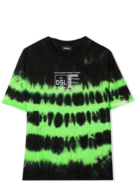 DSL T-shirt with tie dye pattern DIESEL KIDS | J00246 0TBABK506