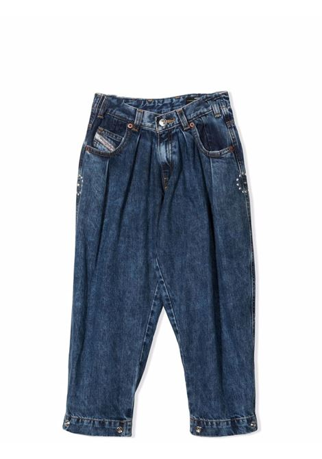 Tapered jeans with crystal decoration DIESEL KIDS | J00326 KXB94K01