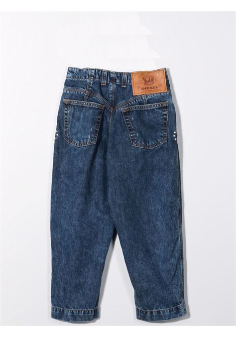 Tapered jeans with crystal decoration DIESEL KIDS | J00326 KXB94TK01