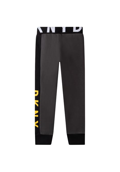 Pantaloni sportivi con stampa DKNY KIDS | D24743T062