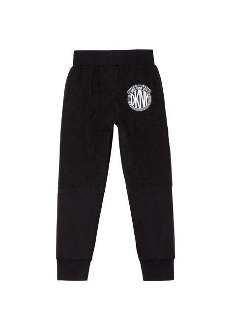 Pantaloni sportivi con stampa DKNY KIDS | D24744T09B