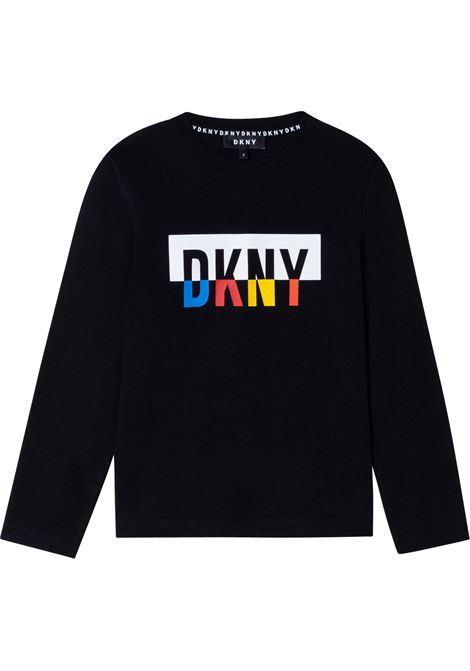 T-shirt with print DKNY KIDS | D25D5209B