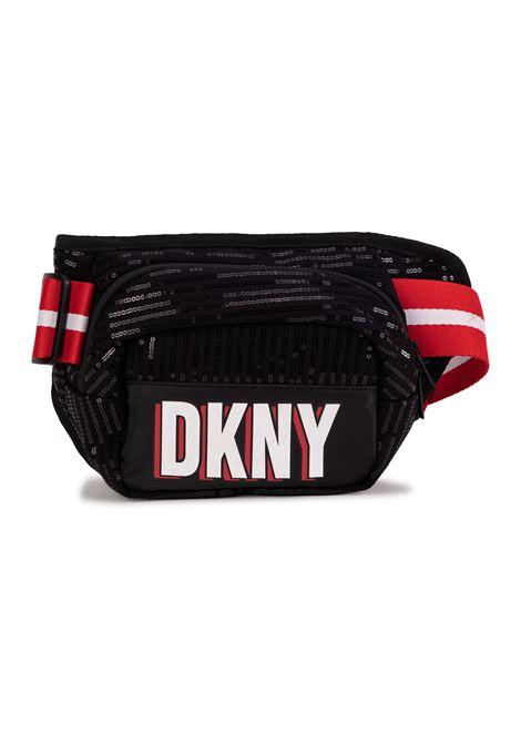 Marsupio con logo con paillettes DKNY KIDS | D3052109B