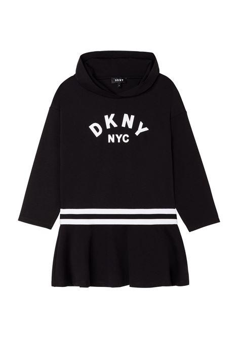 Sweatshirt dress with print DKNY KIDS | D3280409B