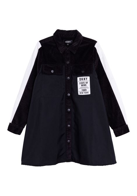 Dress with application DKNY KIDS | D3280509B