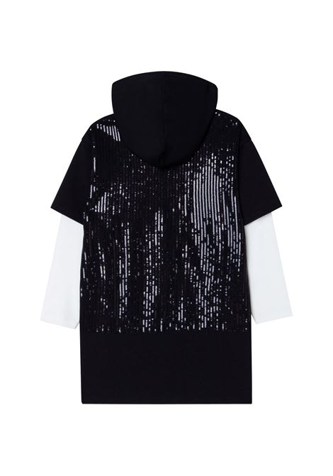 Sweater dress with sequins DKNY KIDS | D3281009B