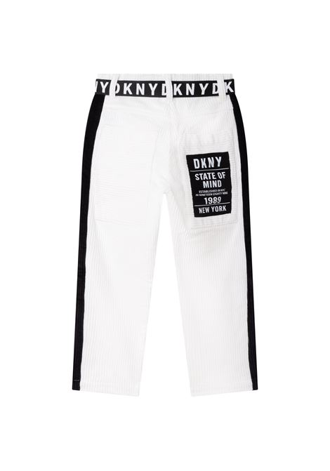 Slim ribbed trousers DKNY KIDS | D34A34117