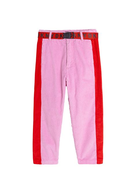 Ribbed trousers with belt DKNY KIDS | D34A3446K