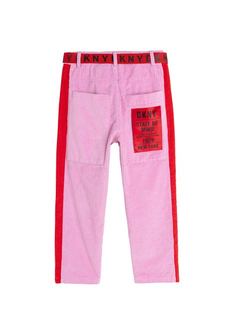 Ribbed trousers with belt DKNY KIDS | D34A34T46K